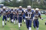 Stillman College's football team runs into Stillman Stadium for a home game. Image released by eduseek.com,