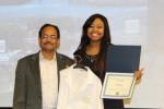 Dr. Anathbandhu Chaudhuri with Nekia Ricks, winner of the Golden Labcoat Award